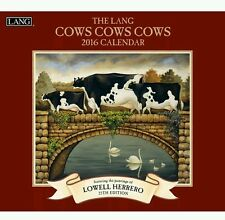 Lang Cows Cows Cows 2016 Wall Calendar by Lowell Herrero January 2016 to Dece...