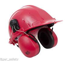 Proforce EP03 Rosso Casco Classico Montato Ear Muffs Per Cuffie Antirumore