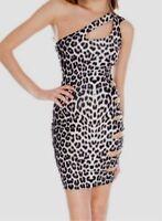 New Ladies Party Dress Leopard Print Body con Dress