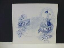 Early Vintage 1900's Schlitz Beer Advertisng Store Card Yv Yegge DeWitt Ia Iowa