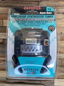 Aiwa HD-TX366 Super Bass AMFM Portable Stereo Radio Cassette Player /Description