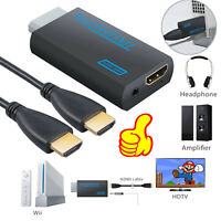 720P 1080P For Nintendo Wii To HDMI 3.5mm Audio Converter Full HD Video Adapter