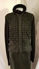 Womens Puffy Sweater Jacket Black Medium Warm