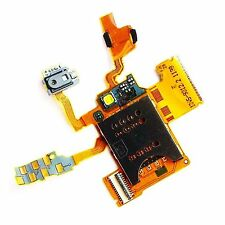 100% ORIGINALE SONY ERICSSON XPERIA RAY SIM Holder + FLEX + FLASH + PULSANTE LATERALE UI ST18i