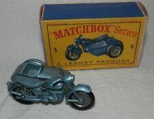 1960s.Matchbox Lesney.4 Triumph Motorcycle & Sidecar .MINT IN BOX.ORIGINAL