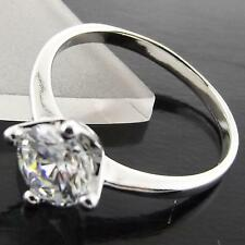 RING SOLITAIRE 18K WHITE G/F GOLD SOLID 1 CT DIAMOND SIMULATED DESIGN FS3A042