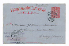 CHILE  3 Centavos  Postal Stationery Card  1900 to Swiss used    (B5/49)