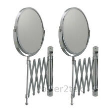 2 x IKEA FRACK Wall One Side Stainless Steel Round Shave Mirror Magnifying Glass