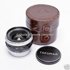 Pentax (Ashai Optical) 35mm f/4 Takumar M42 w/Case, Ashai's First Wide Angle !!