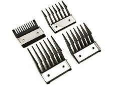 4 Clipper Attachment Comb Set With Metal Backed Cutting Guide 3   6  9  12mm Fit
