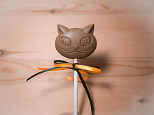Cat/Kitten/kitty/animal Belgian chocolate lollies/lollipops x 10.Ribbon/party