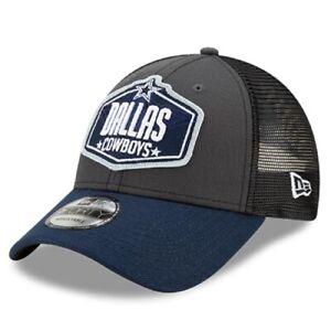 Dallas Cowboys New Era Graphite Navy 2021 NFL Draft Trucker 9FORTY Snapback Hat