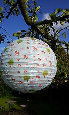 Lampenschirm Lampion Papier Laterne 40cm Schirm Lampe Retro Reh Hase Kinderlampe