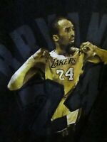 T SHIRT - Los Angeles Lakers Kobe Bryant BLACK MAMBA 2 Side Tee