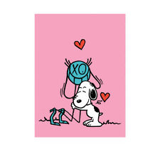 """André Saraiva """"Mr. A Loves Snoopy (Pink)"""" Peanuts Limited SilkScreen Print, 2018"""