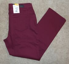 New Lee 12P Jeans Straight Leg Classic Fit Cinnamon Cotton Pants 12 Petite
