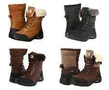 New UGG BNIB £220 Leather Fur Adirondac Women's Vibram Shoes Winter Boots Sale