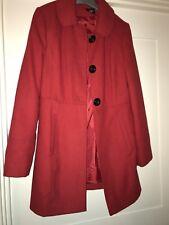 Ladies Red Warm Coat (new) Size 10