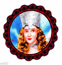 "2.5"" Wizard of oz glinda good witch of east fabric applique iron on character"