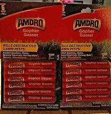 2 Packs Of 6 Amdro Gopher Gassers Kills Gophers Moles Rats Woodchucks Skunks New