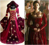 MEDIEVAL DRESS 10-12-14 S-M GOTH WITCH COSTUME TUDOR LARP LOTR WEDDING HALLOWEEN