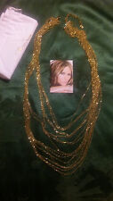 """Melania Trump Gold tone Bead Chain Necklace Approx 24"""" long/extender    L3"""