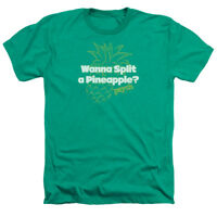 Psych TV Show Logo WANNA SPLIT A PINEAPPLE? Adult Heather T-Shirt All Sizes