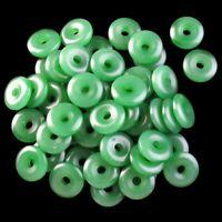 12Pcs 15x4mm Beautiful Green Jade Donut Pendant Bead 13g A-38JY