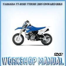 YAMAHA TT-R50E TTR50E 2005 ONWARD BIKE WORKSHOP SERVICE REPAIR MANUAL IN DVD