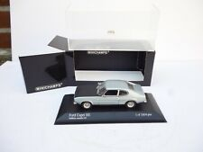 Ford Capri RS 2600 - hellblau/schwarz - Minichamps 1:43  MINT BOXED