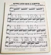 Partition sheet music MAROTTO / DENISE GLAZER BO Film Aussi Loin que l'Amour