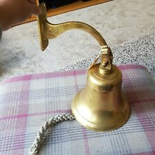 More details for large brass bell wall mounted very heavy (1g)