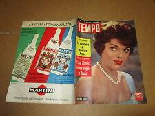 RIVISTA IL TEMPO GENNAIO 1960 VALERIA FABRIZI MAURIZIO ARENA MUSSOLINI