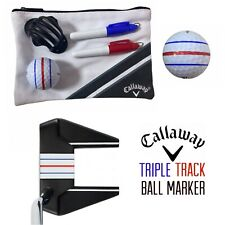 Callaway Golf Ball Triple Track Line Marker Stencil ERC Chrome Soft Odyssey New