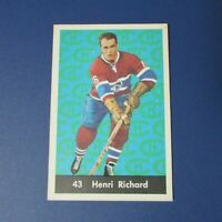 HENRI RICHARD 1961-62  Parkhurst  # 43  Montreal Canadiens  HOF 1962 61 62 NR/MT