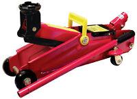 Red 2 Ton Tonne Car Van DIY Garage Mechanic Hydraulic Handle Trolley Jack Lift