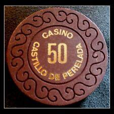 "Casino Castillo de Perelada ""50 Ptas Jeton Chip"" / Perelada, Spain"