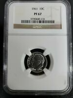 1961  Roosevelt Proof Dime, 10C , NGC Certified PF 67