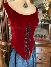 Costume RENAISSANCE DRESS GOWN MEDIEVAL COSPLAY LACE UP MAIDEN PIRATE