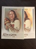2020 Topps Allen & Ginter Mike Clevinger Hot Box Silver Foil Sp & Base - Indians