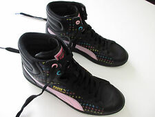 Girl's PUMA 'First Round' Size 7 US / 6 UK Hightop Shoes Black Pink New Kids
