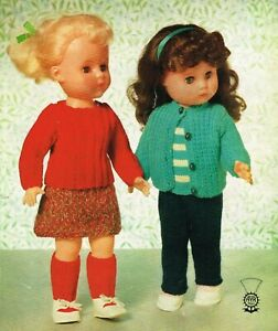 Dolls Clothes knitting pattern for 16 inch doll. (V Doll 179)