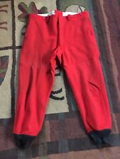 Vintage Unbranded Red Thick Wool Hunting Pants Mens 34 X 31 ? See Measurments
