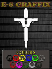 Cross Weapons vinyl decal Sig Glock Ammo Bullet 7.62 .45 guns 2nd Amendment 2A