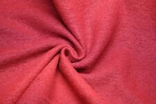 Italian Boiled Wool Coating in Red with Black