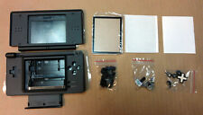 DS Lite Replacement Case Silver/Black Shell Housing***US Seller***