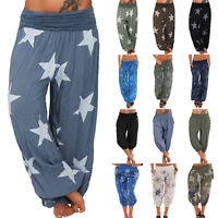 Women Ali Baba Harem Trousers Yoga Baggy Aladdin Hippy Palazzo Pants Plus Size