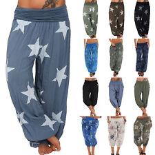 Womens Ali Baba Harem Trousers Leggings Ladies Baggy Aladdin Hippy Palazzo Pants
