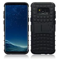 SAMSUNG Galaxy S8 Perfect Fit Custodia tripla densità rubbersied guscio di carbonio nero