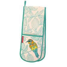 Bee Eater Double Oven Glove by Ulster Weavers - Turquoise